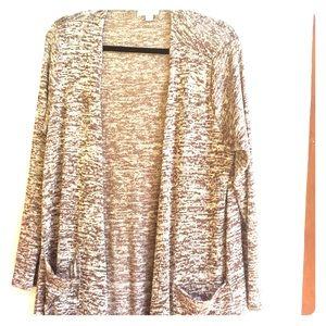 Sarah Duster Sweater Lularoe Size M Brown
